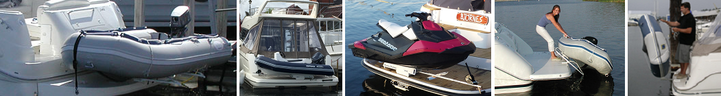 Dinghy davits for inflatable boats